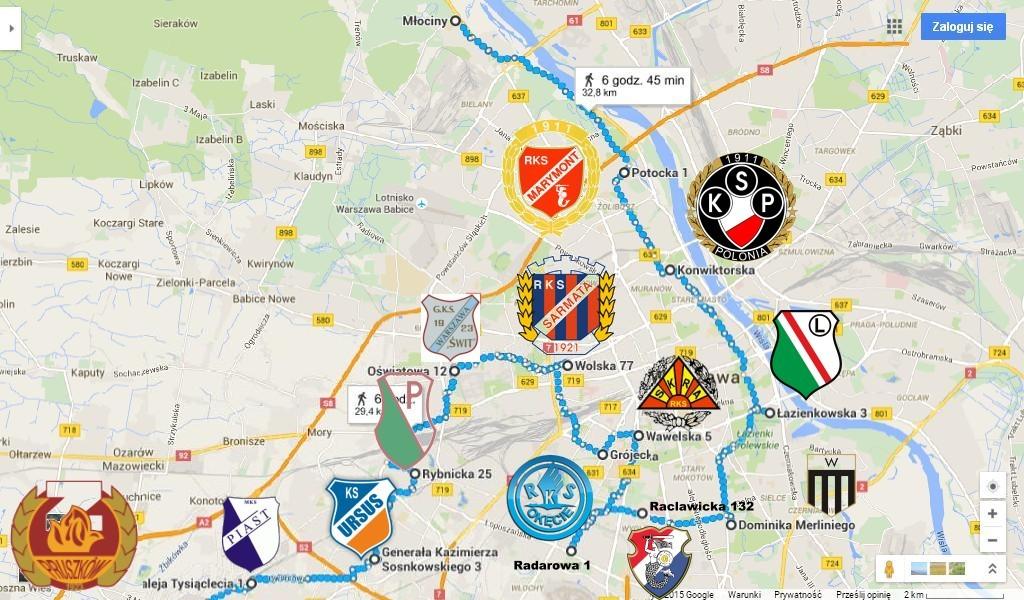 Piłkarska mapa Stolicy